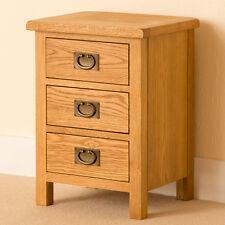 Lanner Oak Bedside Table / Rustic Oak Bedside Cabinet / Solid Wood Waxed Finish