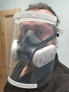Face Visor Splash guard Full Face Shield Face Mask Elasticated  Options avail