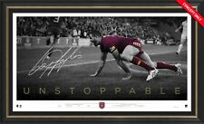 Greg Inglis Signed Queensland State of Origin Unstoppable Retirement Print Frame