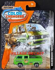 2017 Matchbox Color Changers Volkswagen Transporter GREEN/CARGO IN BED/MOC