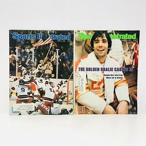 Sports Illustrated USA Hockey Miracle on Ice March 3 And 10 1980 Magazines!