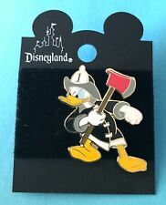 Disney Mad Donald Fireman Firefighter with Red Axe Disneyland Rescue Serie Pin