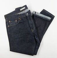 Uniqlo Raw Selvedge Denim Jeans Regular Straight Mid Rise Mens 32x32