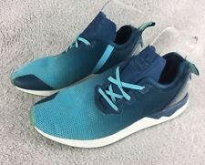 Adidas ZX Flux vert/bleu turquoise S79058 UK6.5 EU40 Baskets Chaussures Running