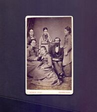 CDV,Scottish Family Great Outfits,photographer Howie Junr,Edinburgh RS3)