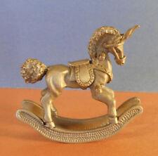 Vintage Unicorn Pewter Rocking Horse miniature figurine 1982 Spoontiques