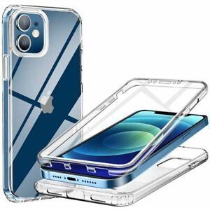 Coque Silicone 360 Intégrale Full TPU iPhone 13 Pro Max 13 mini 12 11 XR XS 7 8