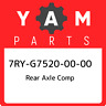 7RY-G7520-00-00 Yamaha Rear axle comp 7RYG75200000, New Genuine OEM Part