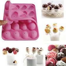 20 Sticks Cake Pop Mould Silicone Lollipop Chocolate Mold Baking Tray Tools H&T