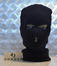 TROIS (3) trou en bonneterie cagoule, très chaude - Noir - TOUT NEUF x 10