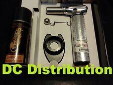 Vector Nitro Torch KGM Chrome + Free Lighter Ring Stand + Free Butane 3.6 fl oz