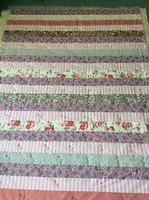Handmade Patchwork Quilt/ Throw 53 X 72 Ins