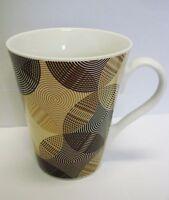 braune retro Tasse Kaffeebecher / Kaffeetasse Porzellan
