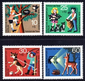 Berlin 1972 Child Welfare Fund set of 4 Mint Unhinged