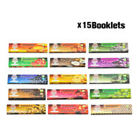15Pcs HORNET KING SIZE Flavored Cigarette Rolling Papers Mixed Tobacco Paper Set