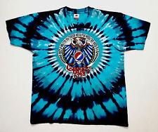 Grateful Dead Shirt T Shirt Vintage 1990 25 Year Dead Eagle Crest Tie Dye Blue L