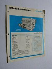Prospetto Motore: Detroit Motori Diesel Marina Models Tipo 4-53 140 HP