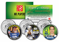 "PEYTON MANNING ""INDIANAPOLIS COLTS"" INDIANA STATEHOOD QUARTER ""3"" COIN SET! MVP!"