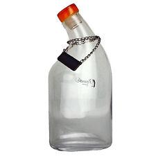 New DENIZLI Handmade CRYSTAL WHISKEY BOTTLE 33 1/4 oz - Lead Free GLASS