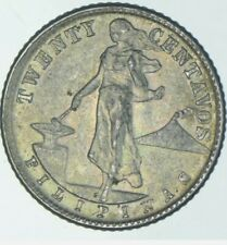 1944 Philippines 20 Centavos World Silver Coin