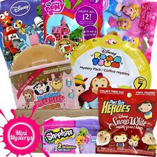 GIRLS TOYS GIFT BUNDLE inc Smooshy Mushy, Disney Tsum Tsum, Shopkins Blind Bags