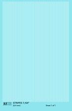 K4 HO Decals White 1/64 Inch Stripes Set