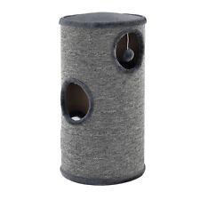 [en.casa]® Kratztonne Grau 100x40x40cm Kratzsäule Kratzturm Kratzbaum Katzenbaum