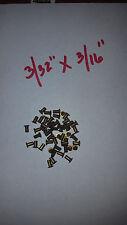 "20 pack of Semi Tubular BRASS RIVETS  3/32"" x 3/16"" antique slot machine ""B"""
