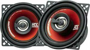 """MTX TR40C Terminator 10cm 4"""" 2 Way 160 watts Car / Van Coaxial Audio Speakers"""