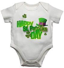 Baby Camisetas Bodis Crecimiento Happy St Patricks Day para ambos De niño y niña