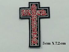 Black Sabbath Crucifix Cross Rock Music Band EMBROIDERED Iron on/Sew on  PATCH