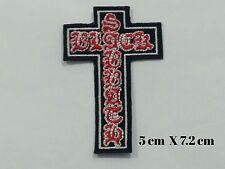 Black Sabbath Crucifix Cross Rock Music Band EMBROIDERED Iron on/Sew on  PATCH