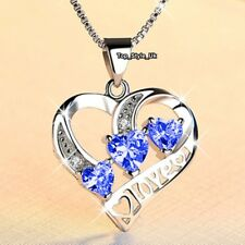 Sapphire Diamond Necklace Daughter J675A Girlfriend Gifts Xmas Presents for Her