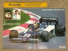 Original Autosport 1983 F1 POSTER - Roberto Guerrero - Theodore N183