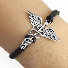 Caduceus Medical Symbol Charm Bracelet Lucky Friendship Bracelet