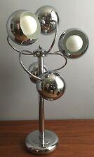 SUPERB Vtg Sonneman? 60s/70s Mcm Chrome SPACE AGE Sputnik Retro ATOMIC Lamp