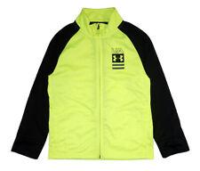Under Armour Boys hi Vision Yellow & Black Track Jacket Size 5