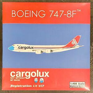 Phoenix 1:400 Cargolux B747-8F Reg : LX-VCF Mask Livery.     Brand New & Sealed