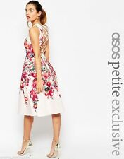 Petite Boat Neck Floral Cocktail Dresses for Women