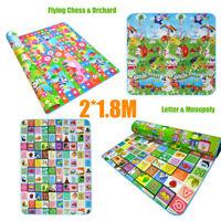 "78""x70"" Baby Kids Play Mat Foam Floor Child Activity Soft Toy Gym Crawl Blanket"