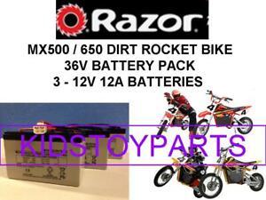NEW! 36V OEM EQUIVELANT 12A BATTERY PACK Razor MX650 MX500 Dirt BIKE W/ Harness
