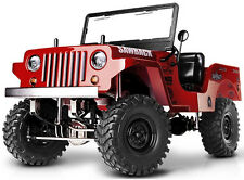 RC Truck Body Shell 1/10 SawBack Crawler JEEP WRANGLER WILLYS  Jeep PAINTED Red