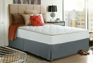 "Utopia Bedding Bed Skirt Soft Quadruple Pleated Dust Ruffle - 16"" Drop - KING"