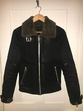River Island Chemise Homme en daim synthétique Aviateur/shearling jacket (XS) Extra Small
