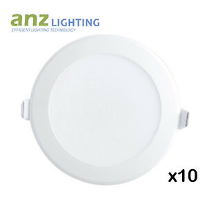 10 kits x 10W Dimmable LED Downlight with Inbuilt Driver & Plug SAA Approval