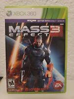 Mass Effect 3 (Microsoft Xbox 360, 2012) 2 Discs Complete CIB W/ Manual