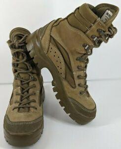 Bates Men's Size 5 R Vibram Olive Mojave Combat Hiker Brown Boots E03612A