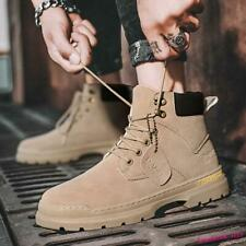 Cargo Men's Ankle Boot Casual Shoes High Top Lace Up Round Toe Motor Retro Chic