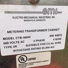 EMI Electro Mechanical Industries, INC Metering Transformer Cabinet CTB-380M