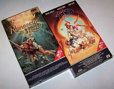 Vintage Romancing the Stone & The Jewel of the Nile CBS/FOX Red Label VHS Set